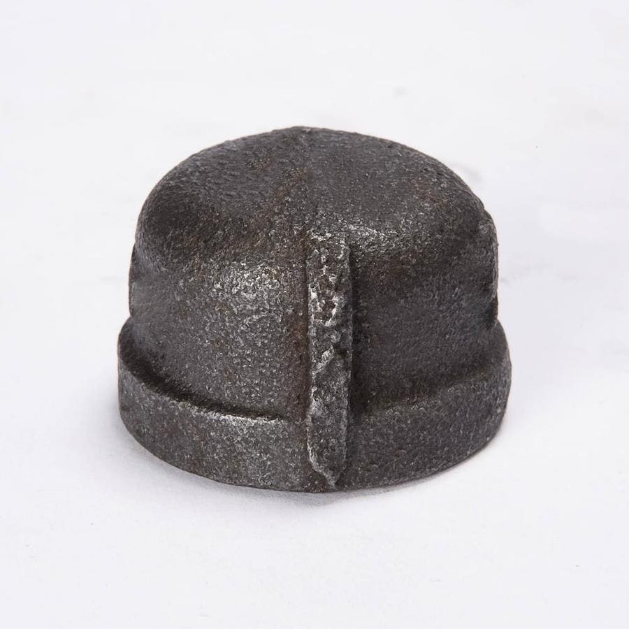 B&K 1/4-in dia Black Iron Cap Fitting
