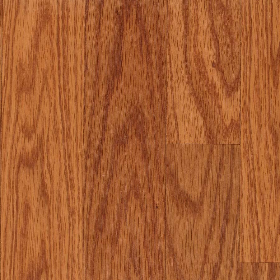 allen + roth 7.48-in W x 3.93-ft L Butterscotch Wood Plank Laminate Flooring