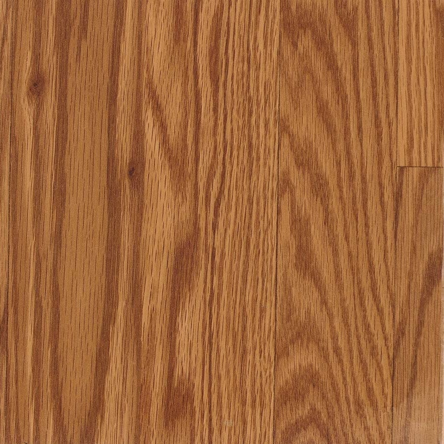 Shop allen roth w x l gunstock oak for Hardwood plank flooring