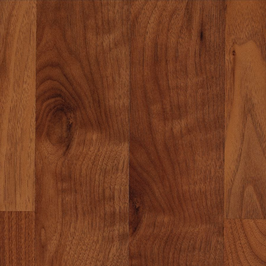allen + roth 7.48-in W x 3.93-ft L Warmed Walnut Wood Plank Laminate Flooring