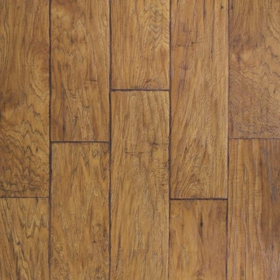 Saddle Hickory 6 14 In W X 4 52 Ft L Handsed Wood Plank Laminate Flooring