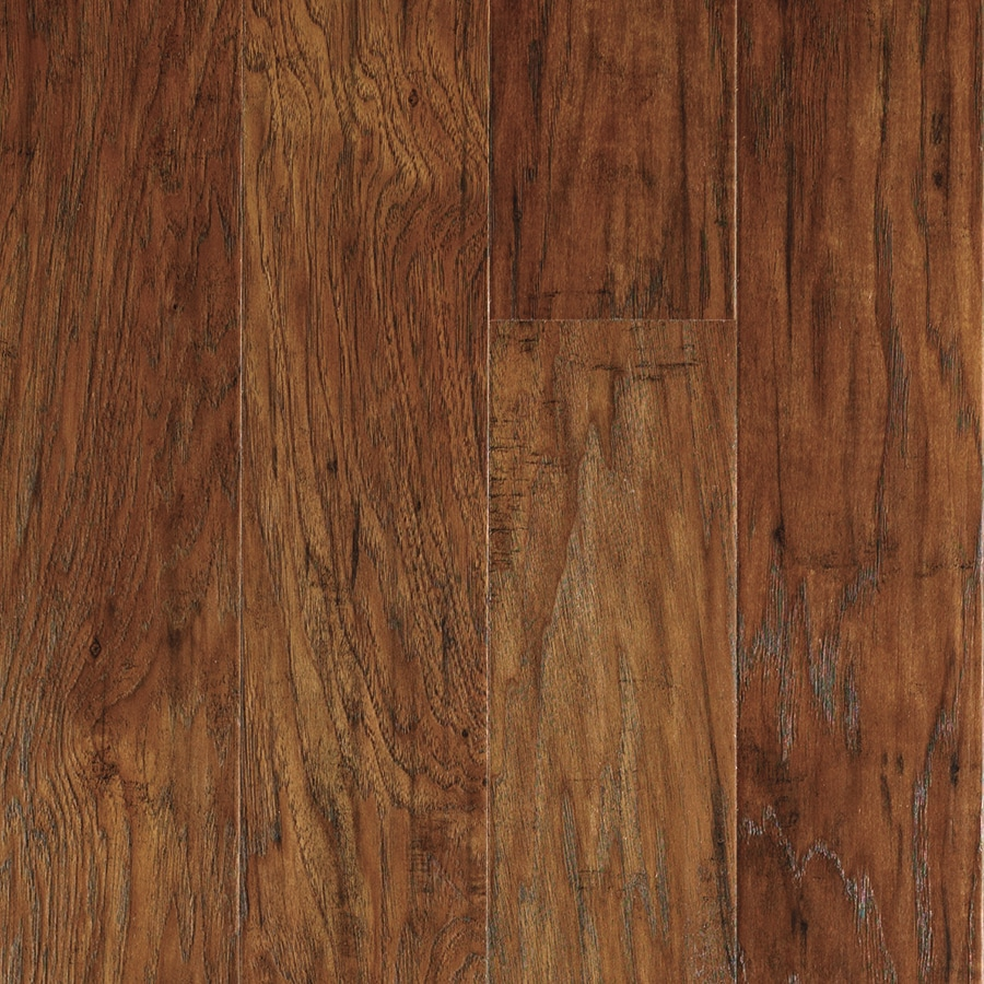 allen + roth 4.85-in W x 3.93-ft L Marcona Hickory Handscraped Wood Plank Laminate Flooring