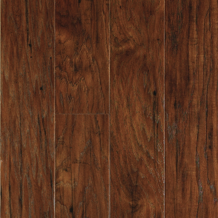 allen + roth 4.85-in W x 3.93-ft L Toasted Chestnut Handscraped Wood Plank Laminate Flooring