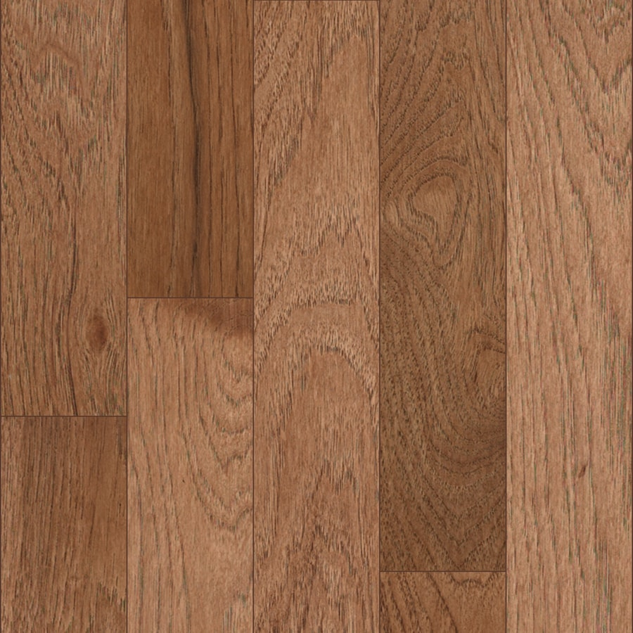 shop allen + roth variable width toffee hickory hardwood flooring