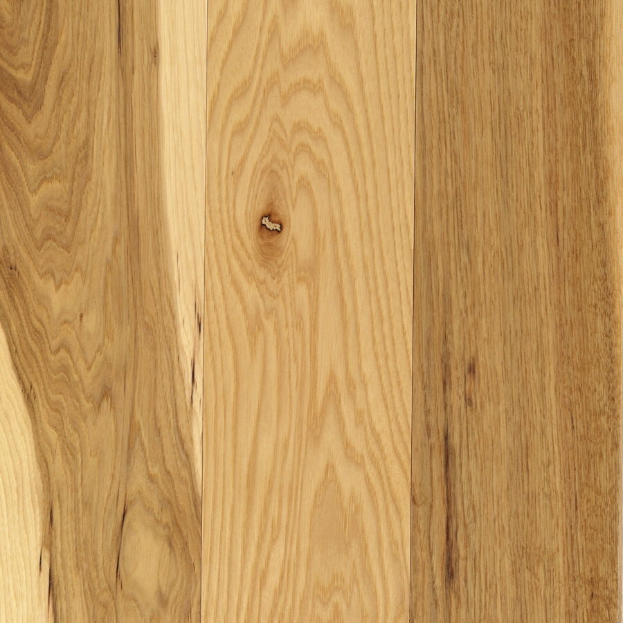 Shop mohawk anniston 5 in w prefinished hickory 3 4 in for Prefinished solid hardwood flooring