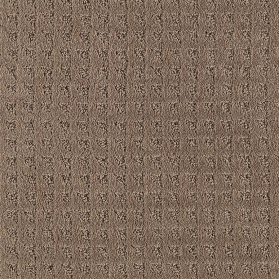 Mohawk Cornerstone Collection 12-ft W x Cut-to-Length Firewood Textured Interior Carpet