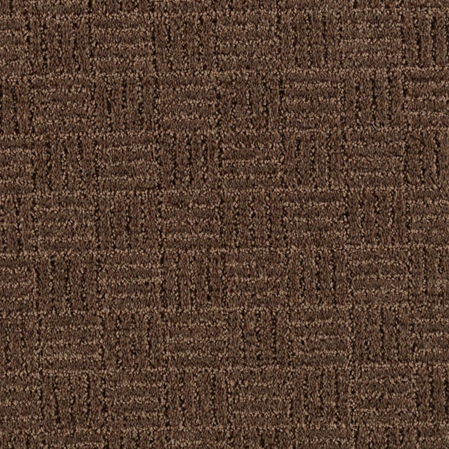 Mohawk Essentials Stylesboro 12-ft W x Cut-to-Length Cigar Leaf Textured Interior Carpet