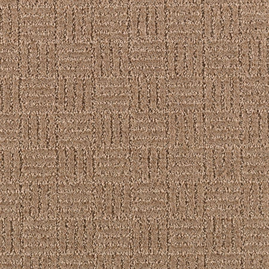Mohawk Essentials Stylesboro 12-ft W x Cut-to-Length Nougat Textured Interior Carpet