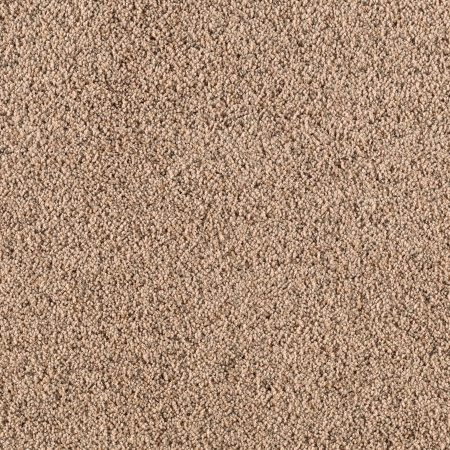 Mohawk Essentials Renewed Style I 12-ft W x Cut-to-Length Malted Milk Textured Interior Carpet