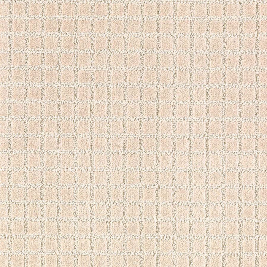 Mohawk Essentials Picture Perfect 12-ft W x Cut-to-Length Sugar Cookie Textured Interior Carpet