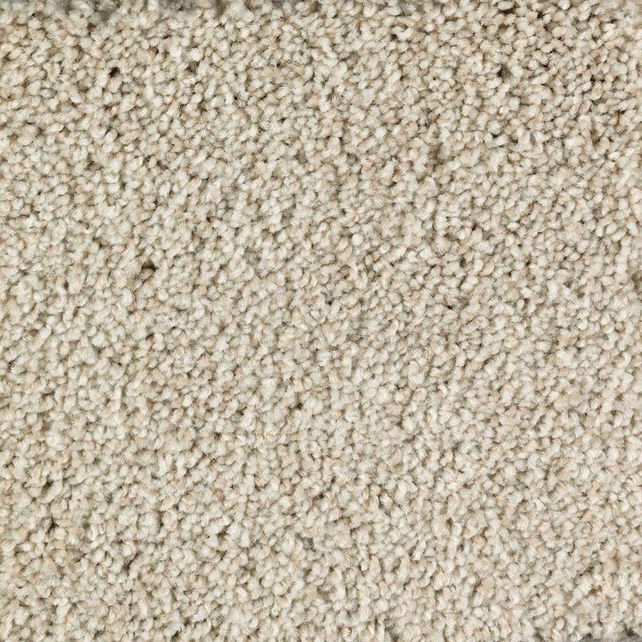 Mohawk Essentials Tonal Look 12-ft W x Cut-to-Length Champagne Glee Textured Interior Carpet