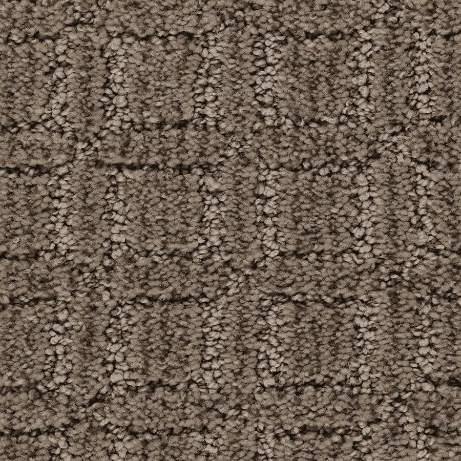 Mohawk Essentials Fashion Walk 12-ft W x Cut-to-Length Swiss Chocolate Pattern Interior Carpet