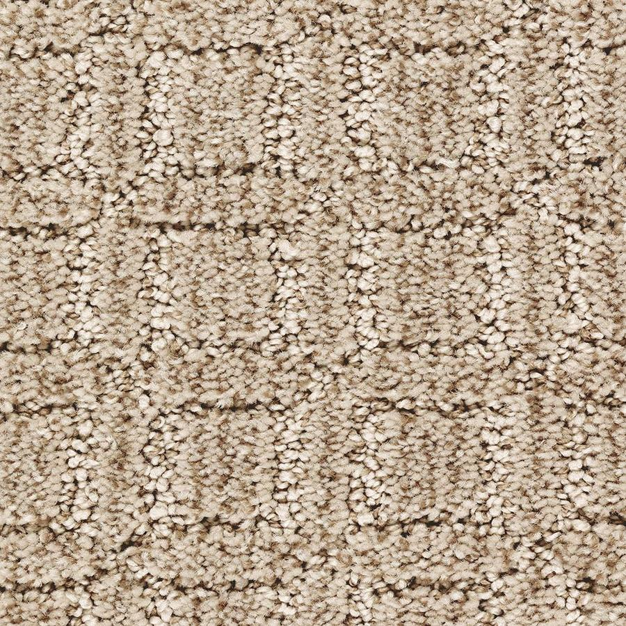 Mohawk Essentials Fashion Walk 12-ft W x Cut-to-Length Tawny Tan Pattern Interior Carpet