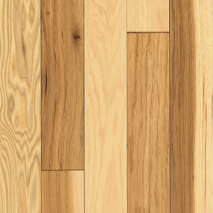 Shop mohawk prefinished country natural hickory for Mohawk hardwood flooring