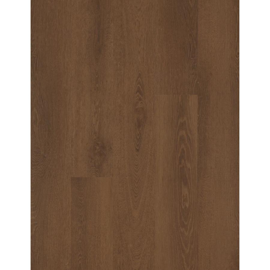 Mohawk 27-Piece 6-in x 48-in Mocha Glue (Adhesive) Luxury Vinyl Plank