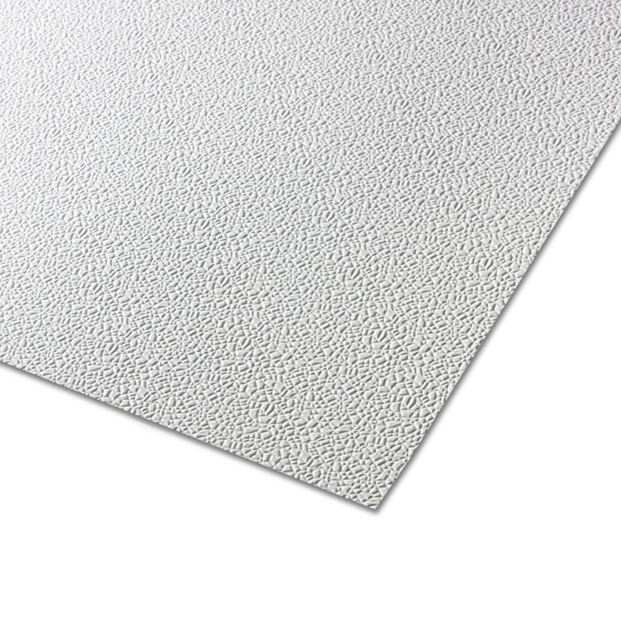 Parkland Plastics 48-in x 8-ft Embossed White Cracked Ice Plastic Wall Panel