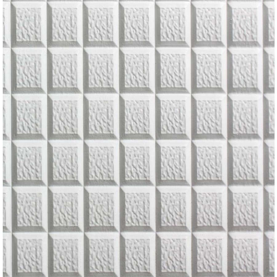 Shop spectratile 12 pack white patterned 1516 in drop ceiling spectratile 12 pack white patterned 1516 in drop ceiling tiles common dailygadgetfo Gallery
