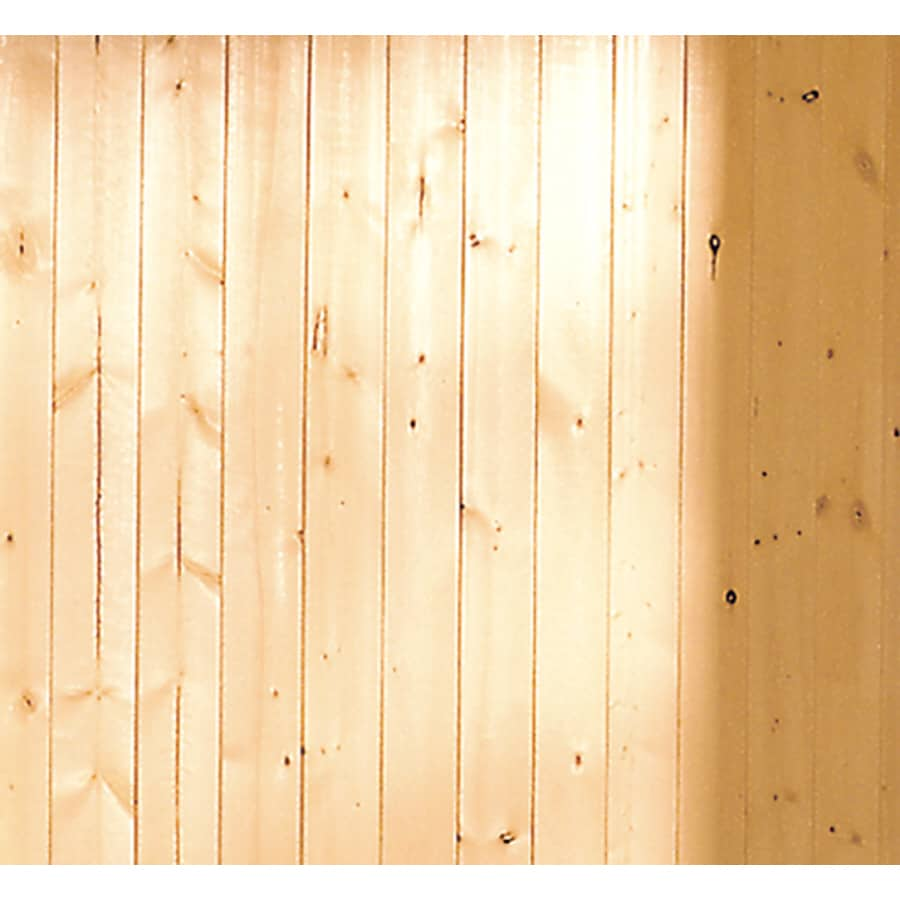 Shop evertrue x 8 ft v groove gold pine wood wall panel at for Tongue and groove interior wood paneling