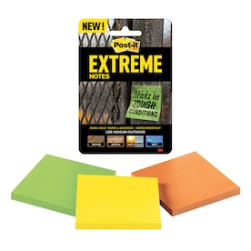 Post-it Extreme 3-in x Green, Yellow, Orange Sticky Notes (3-Pack)