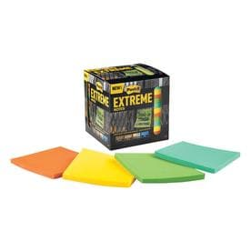 Post-it Extreme 3-in x Green, Yellow, Orange, Mint Sticky Notes (12-Pack)