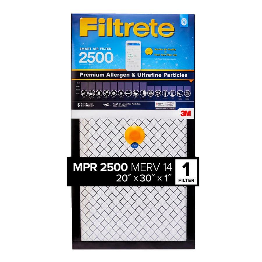 Filtrete 2500 Smart Premium Allergen and Ultrafine Particles (Common: 20-in  x 30