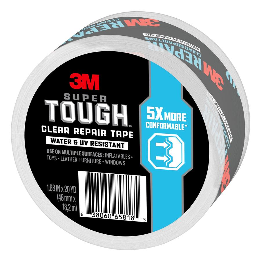 1.88 in x 20 yd 3M Transparent Duct Tape 1 Roll