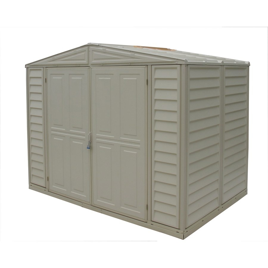 DuraMax Building Products (Common: 8-ft x 6-ft; Actual Interior Dimensions: 7.76-ft x 5.18-ft) Duramate Gable Storage Shed