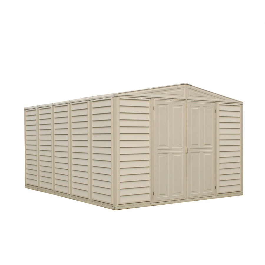 DuraMax Building Products (Common: 10-ft x 13-ft; Actual Interior Dimensions: 10.46-ft x 12.95-ft) Woodbridge Gable Storage Shed