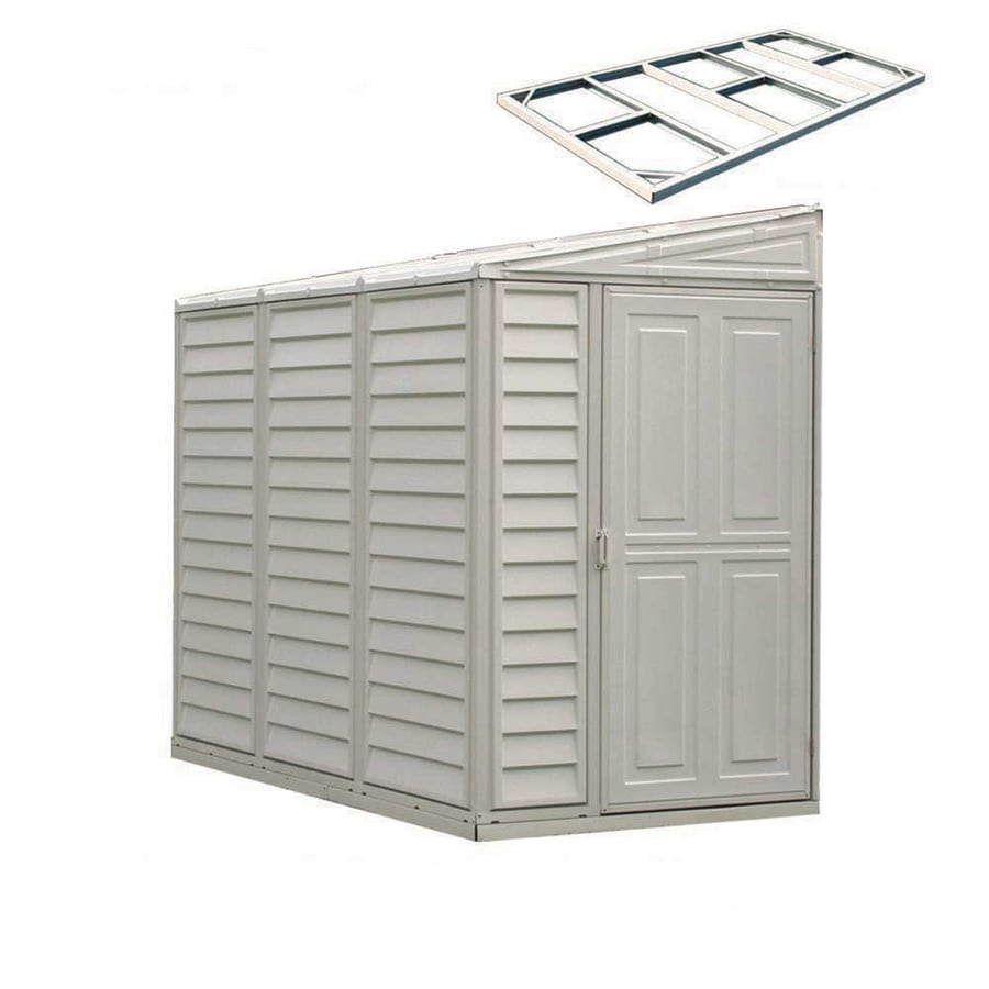 Shop duramax building products common 8 ft x 4 ft for Vinyl storage sheds