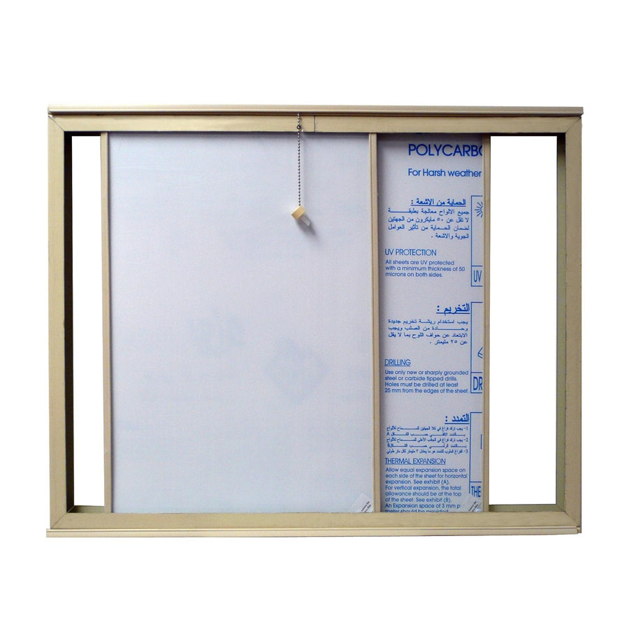 DuraMax Building Products Ivory Plastic Storage Shed Window