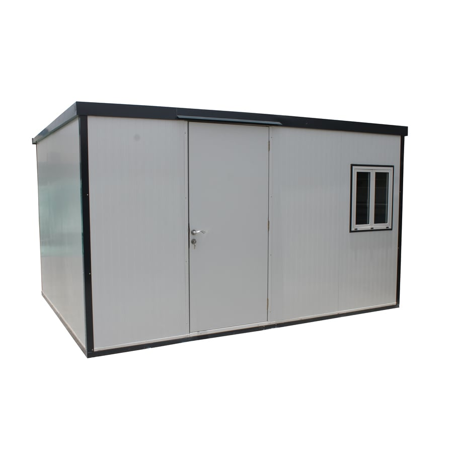 DuraMax Building Products (Common: 13-ft x 10-ft; Interior Dimensions: 13.07-ft x 9.85-ft) Insulated Building Galvanized Steel Storage Shed