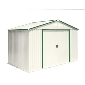 Duramax Building Products Galvanized Steel Storage Shed Common 10 Ft X 8