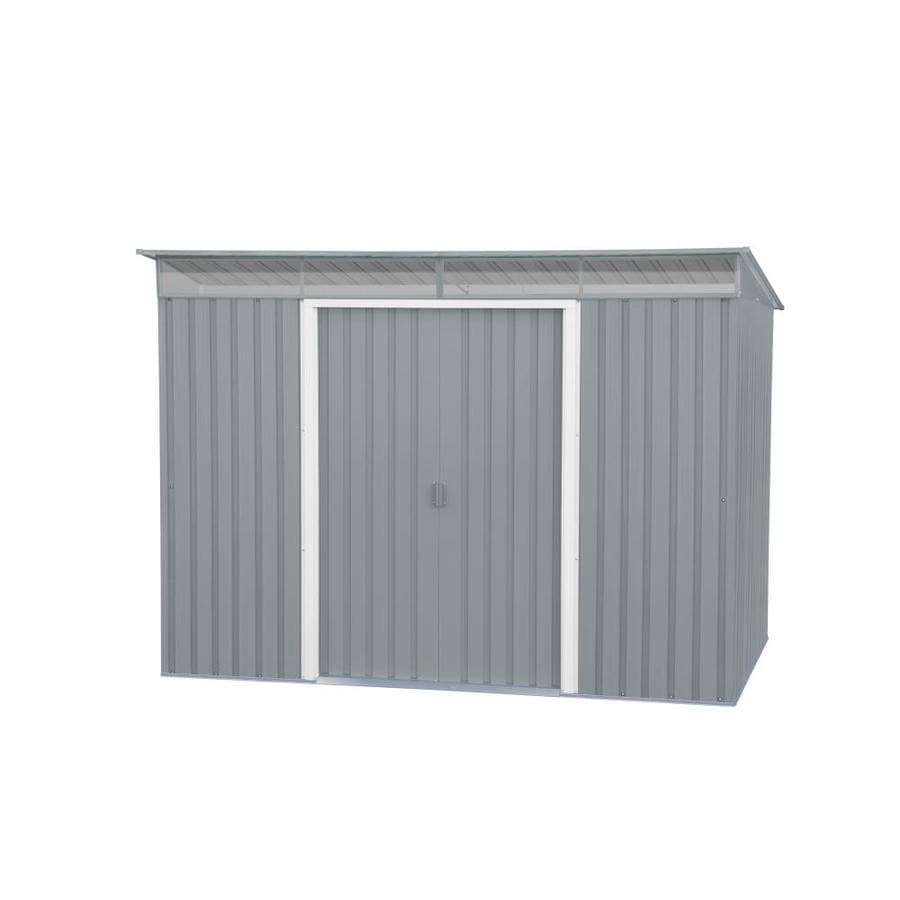 DuraMax Building Products (Common: 8-ft x 6-ft; Interior Dimensions: 8.14-ft x 5.32-ft) Pent Roof Galvanized Steel Storage Shed