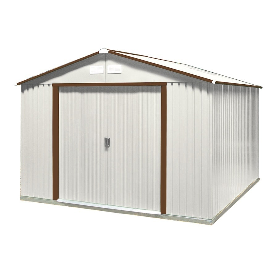 DuraMax Building Products Galvanized Steel Storage Shed (Common: 10-ft x 10-ft; Interior Dimensions: 9.4-ft x 8.8-ft)