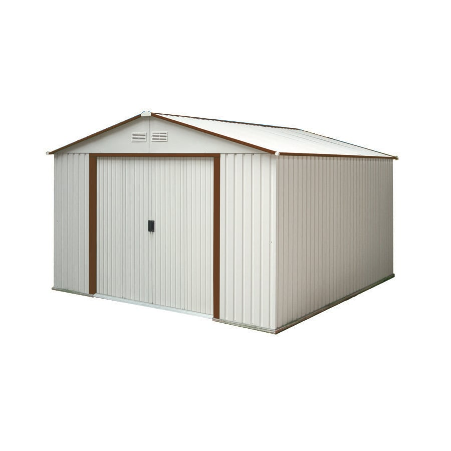Shop duramax building products galvanized steel storage for 10x10 garage door lowes