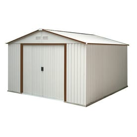 Duramax Building Products Galvanized Steel Storage Shed Common 10 Ft X 12