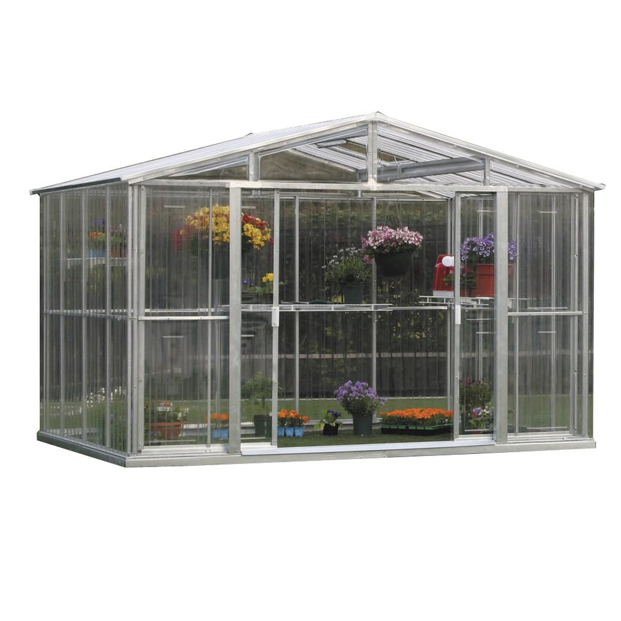 DuraMax Building Products 7.9-ft L x 10.5-ft W x 6.9-ft H Metal Greenhouse