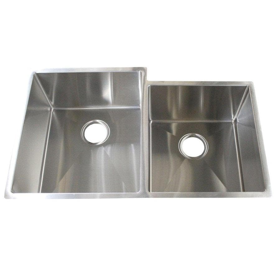 Frigidaire Gallery 33-in x 20-in Brushed Stainless Double-Basin Stainless Steel Undermount Commercial/Residential Kitchen Sink