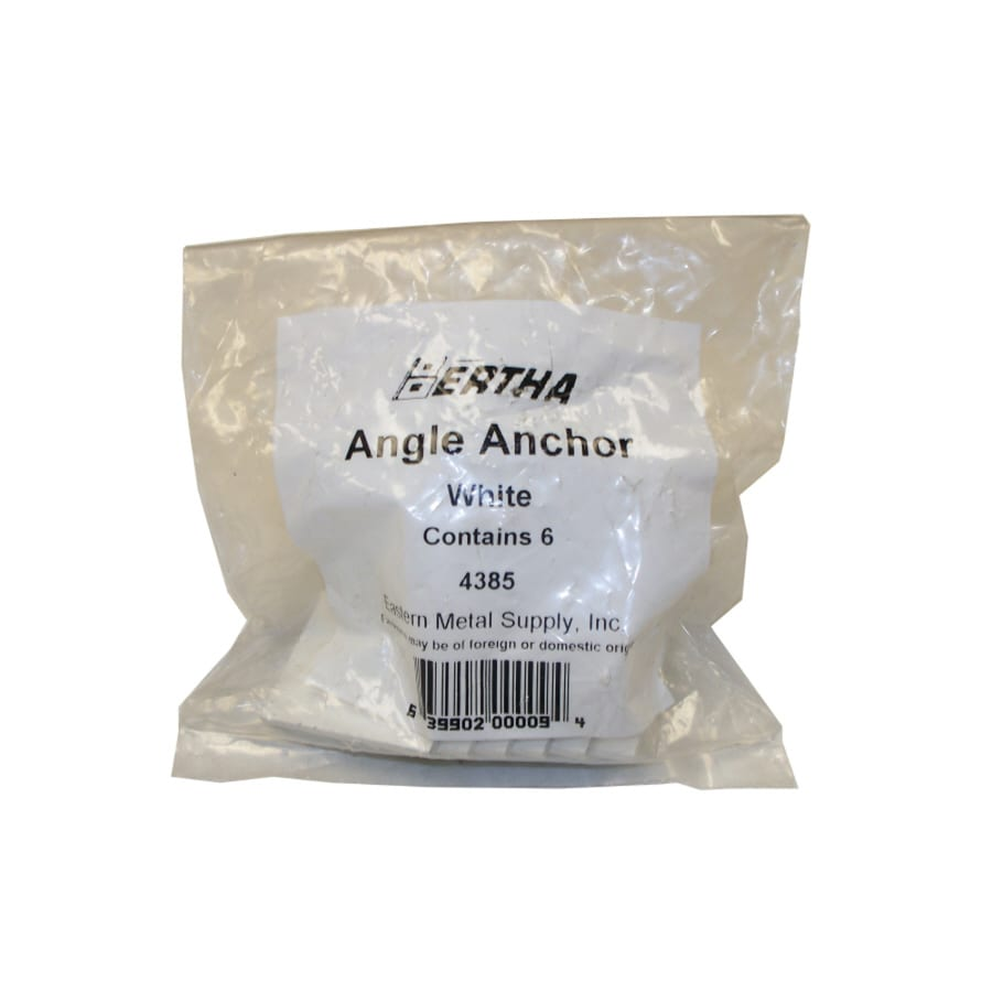 Bertha 6-Pack White Angle Anchors