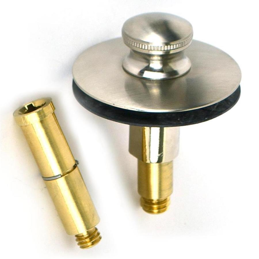 WATCO 1-1/2-in Brushed Nickel Roller Ball with Brass Pipe