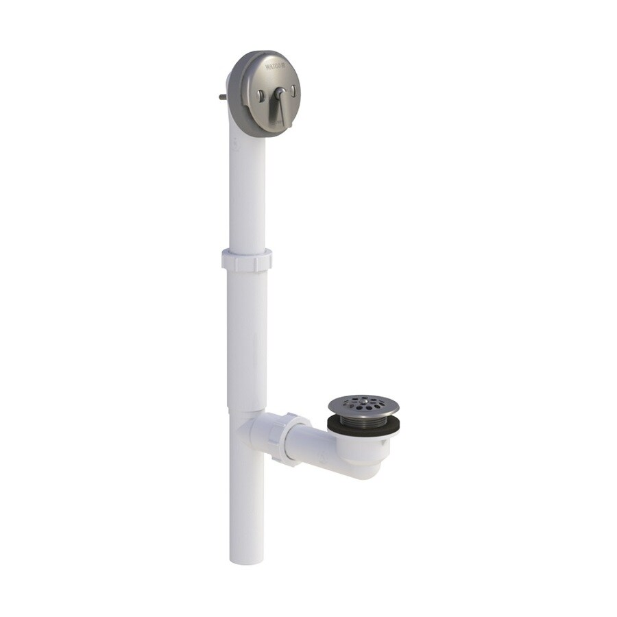 WATCO 1-1/2-in Brushed Nickel Triplever with PVC Pipe
