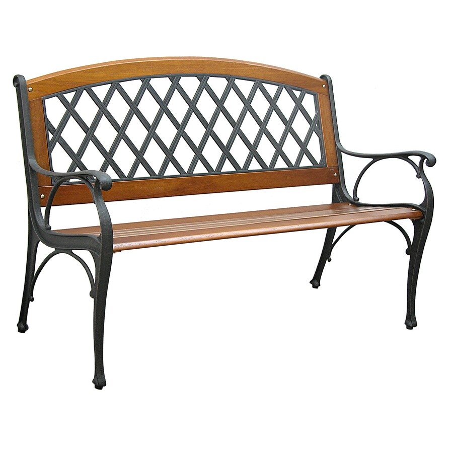 Beau Garden Treasures 50.5 In W X 25 In L Patio Bench