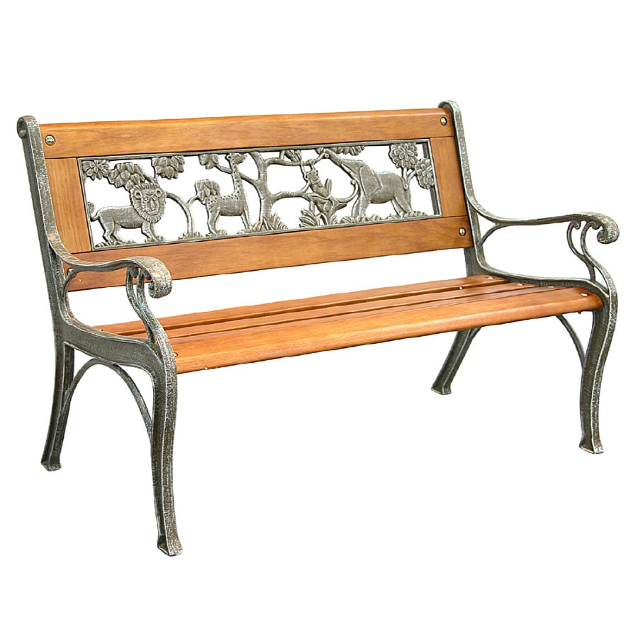 Garden Treasures 32-in L Patio Bench