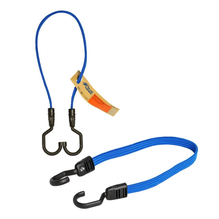 Blue Hawk 2-ft Rubber Core Steel Hook Bungee Cord