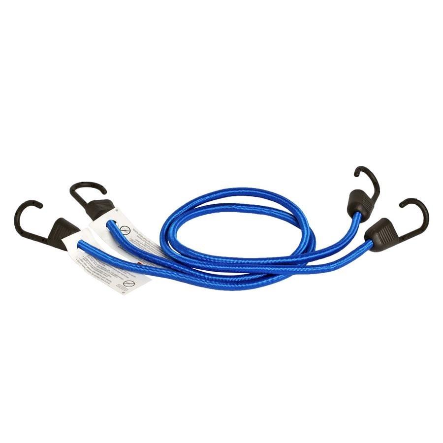 Blue Hawk 8-ft Rubber Core Steel Hook Bungee Cord