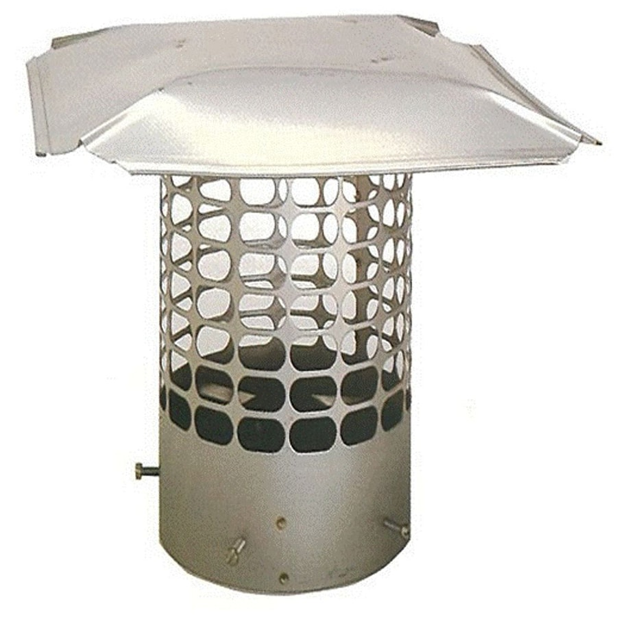The Forever Cap 9.25-in W x 9.25-in L Stainless Steel Round Chimney Cap