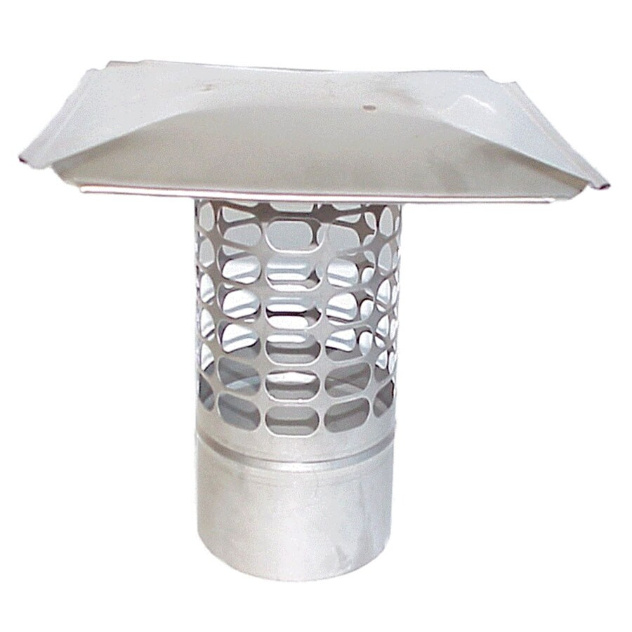 The Forever Cap 4.5-in W x 4.5-in L Stainless Steel Round Chimney Cap
