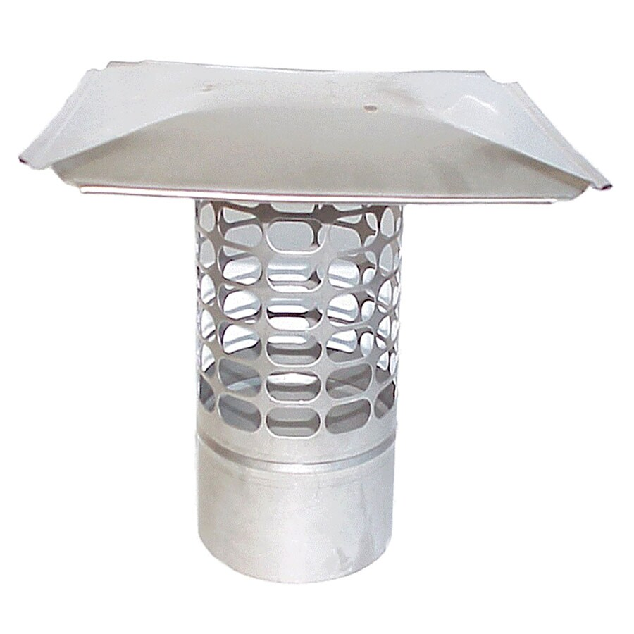 The Forever Cap 5-in W x 5-in L Stainless Steel Stainless Steel Square Chimney Cap