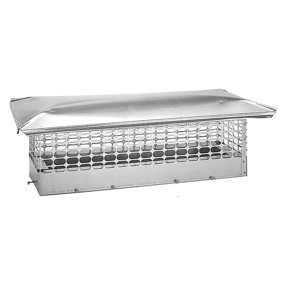 The Forever Cap 14-in W x 28-in L Stainless Steel Rectangular Chimney Cap