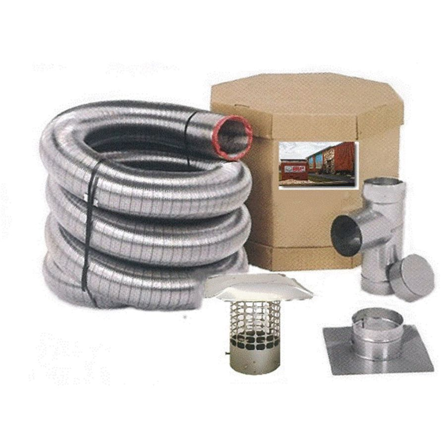 Forever Vent 240-in L x 5.5-in dia Stainless Steel Single-Wall Chimney Pipe